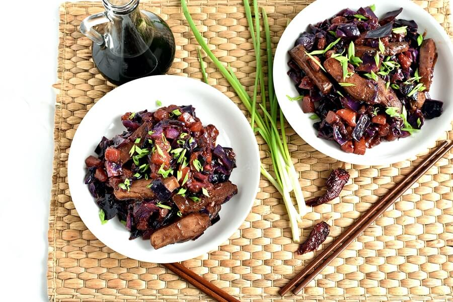 How to serve Stir-Fried Tofu, Red Cabbage and Winter Squash