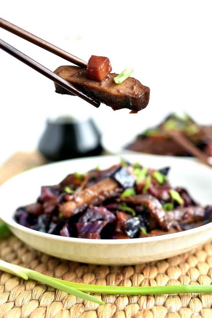 Vegan, Tofu and Cabbage Dinner