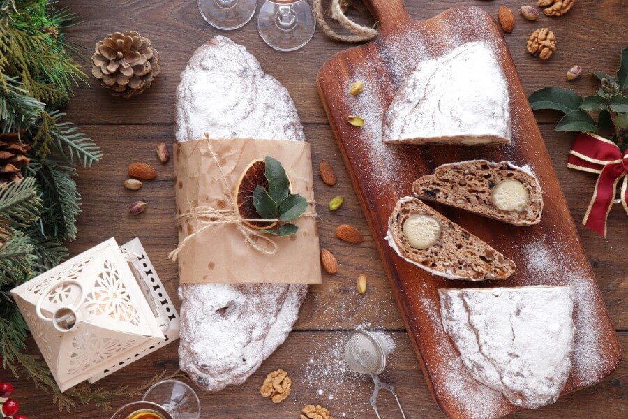 How to serve Christmas Stollen with Marzipan