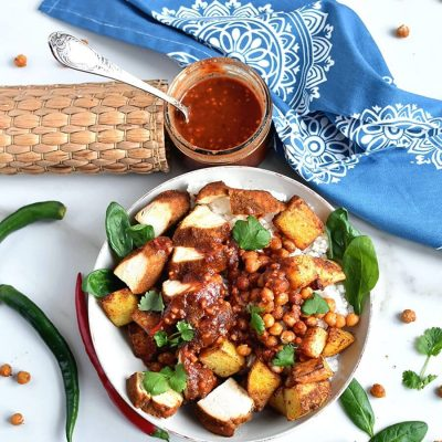 Tandoori Chicken Bowls with Peanut Sauce Recipe-Homemade Tandoori Chicken Bowls with Peanut Sauce -Delicious Tandoori Chicken Bowls with Peanut Sauce