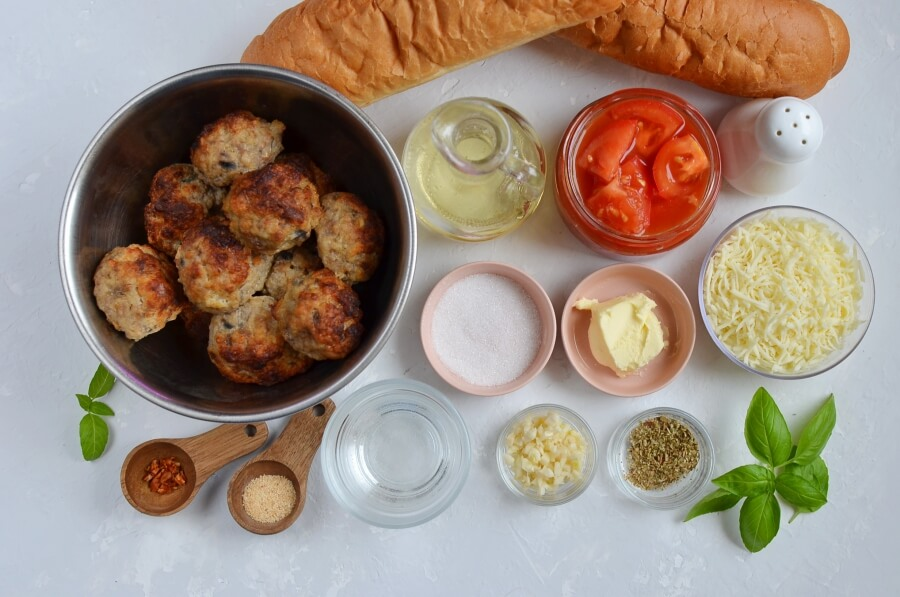 Ingridiens for The Perfect Meatball Sandwich