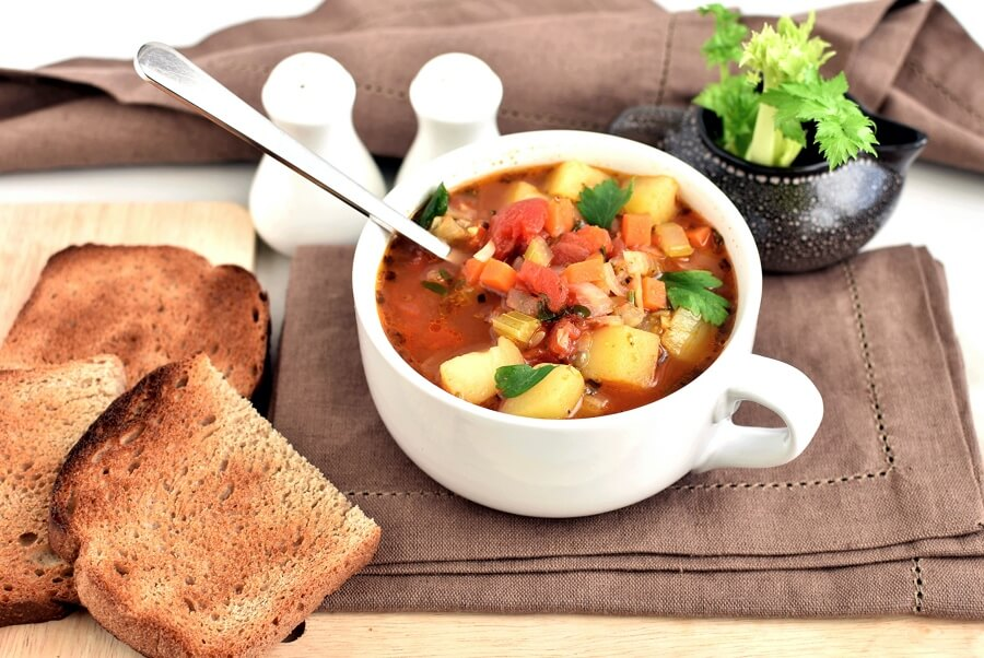 How to serve The Yummiest Vegetable Soup
