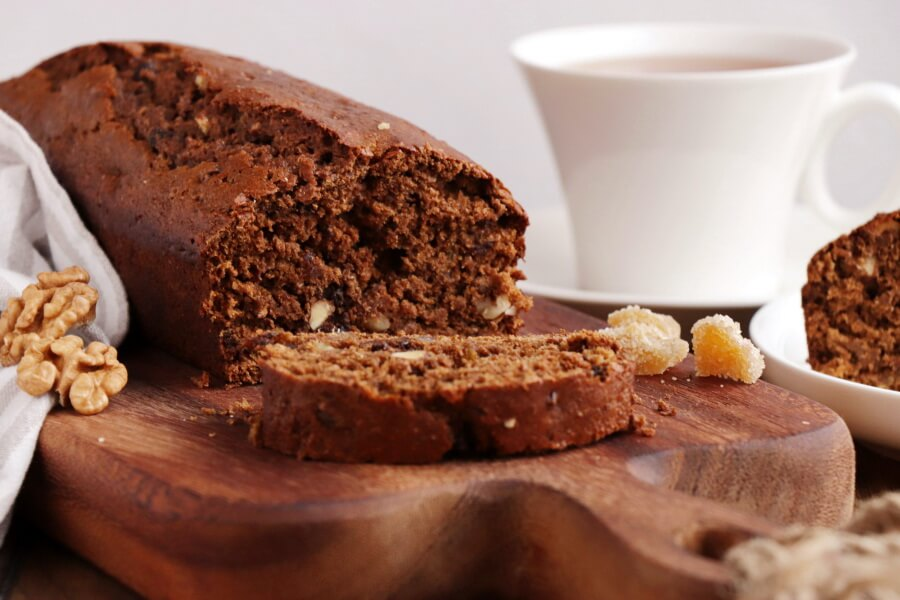 How to serve Vegan Gingerbread Cake with Triple Ginger