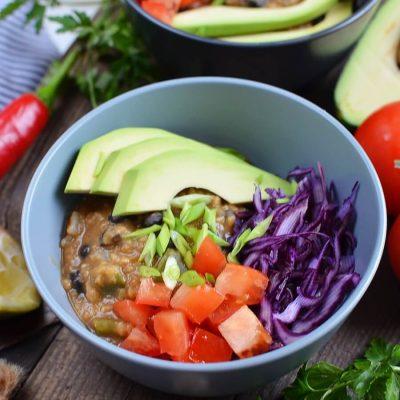 Vegan Lentil Taco Salad Bowls Recipe-How To Make Vegan Lentil Taco Salad Bowls-Delicious Vegan Lentil Taco Salad Bowls