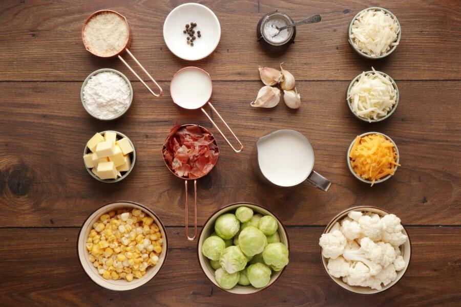 Ingridiens for Vegetable Gratin 3 Ways