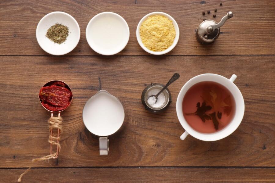Ingridiens for 5 Minute Vegan Sun-Dried Tomato Alfredo