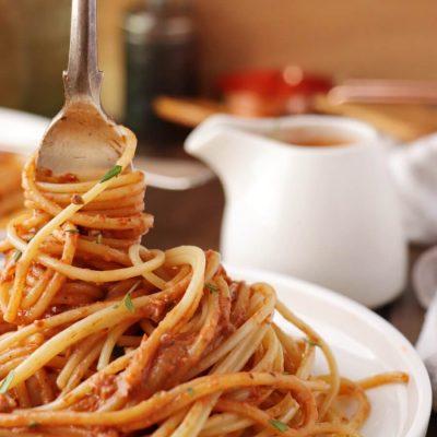 5 Minute Vegan Sun-Dried Tomato Alfredo Recipe-Quick Vegan Sun Dried Tomato Alfredo-Easy Vegan Sun Dried Tomato Alfredo