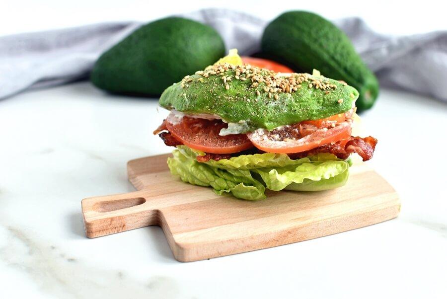 Avocado Bun BLT Recipe-Homemade Avocado Bun BLT-Easy Avocado Bun BLT