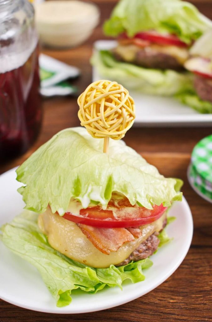 Delicious low carb burgers