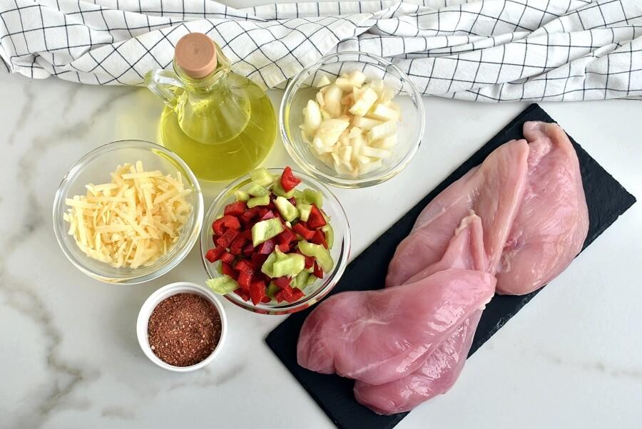 Ingridiens for Cajun-Stuffed Chicken