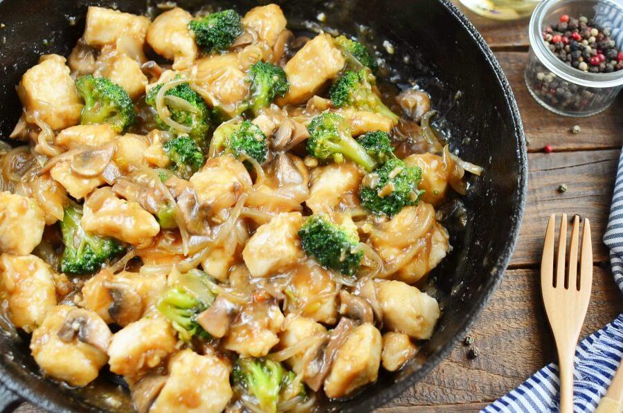 How to serve Chicken Broccoli and Mushroom Stir Fry