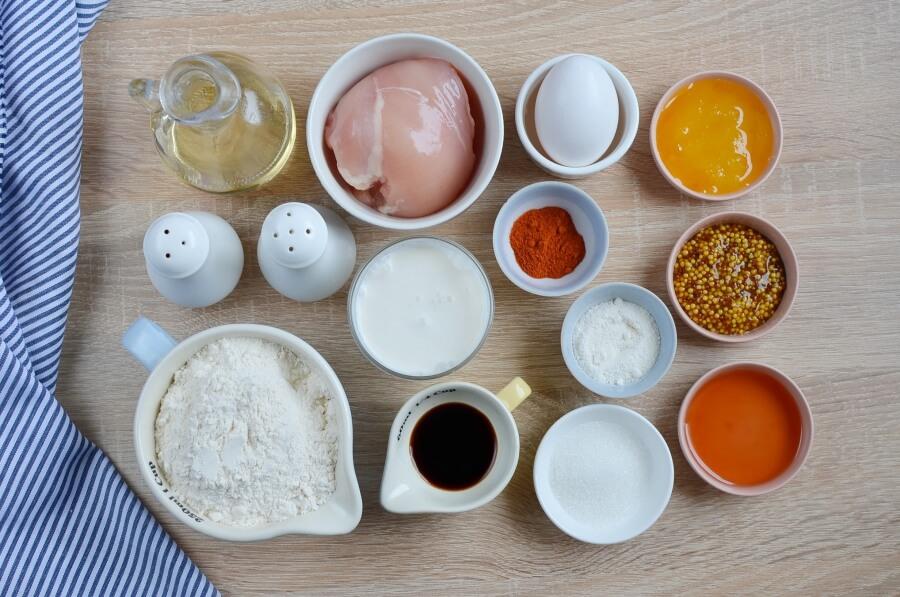 Ingridiens for Chicken & Waffle Bites