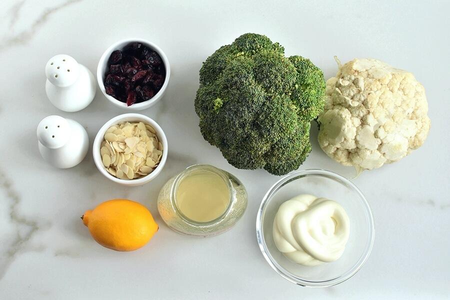 Ingridiens for Creamy Broccoli Salad