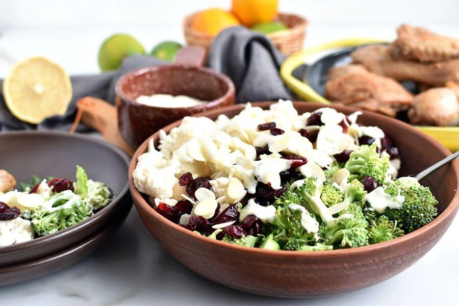 Creamy Broccoli Salad Recipe-Homemade Creamy Broccoli Salad -Easy Creamy Broccoli Salad