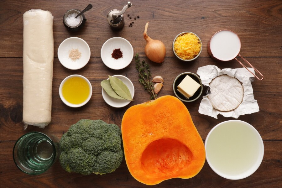 Ingridiens for Creamy Broccoli and Butternut Squash Soup