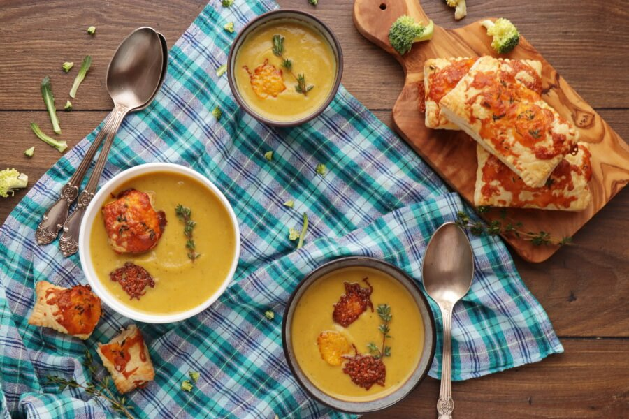 How to serve Creamy Broccoli and Butternut Squash Soup