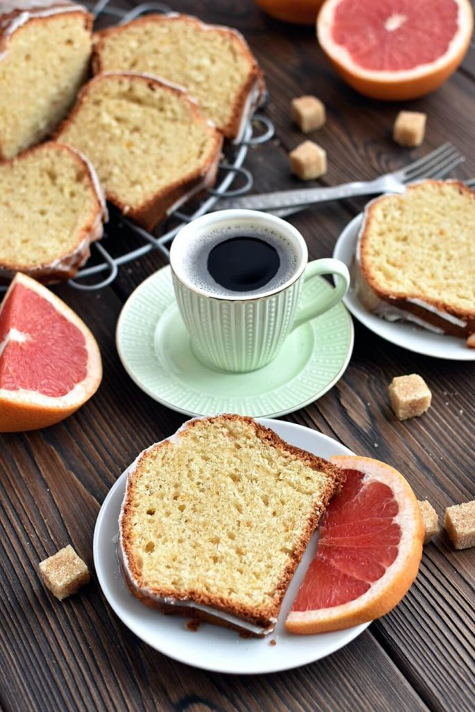 Beautiful and Moist Grapefruit Loaf Cake