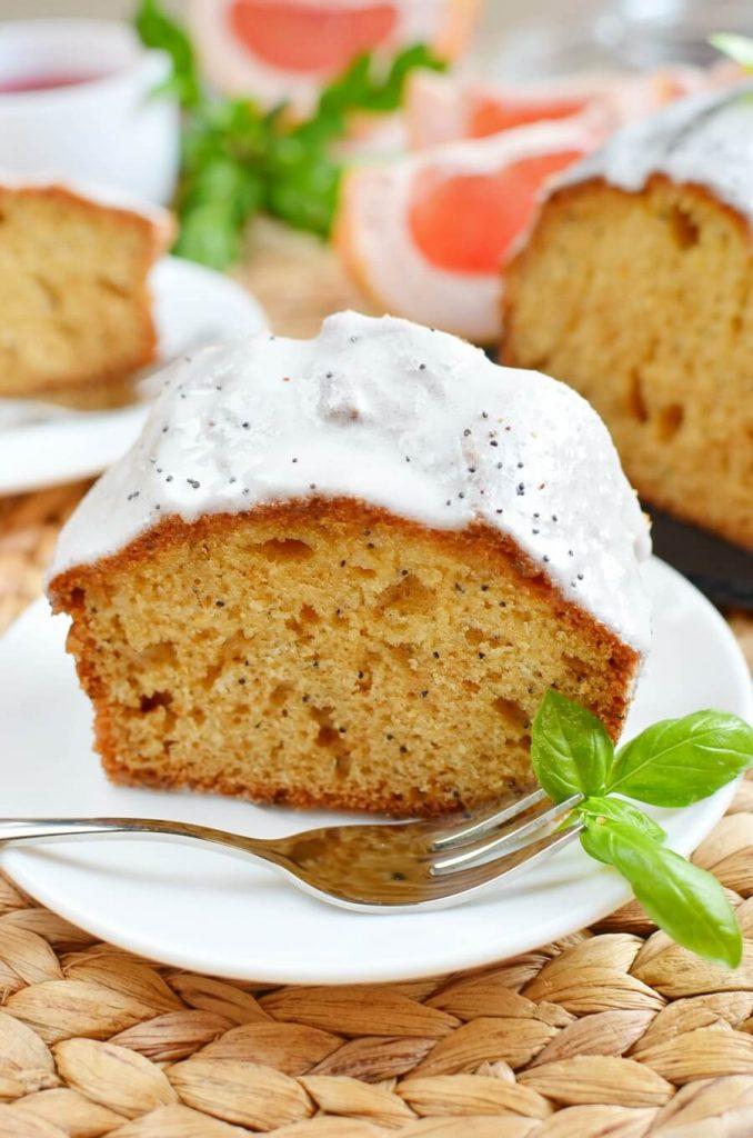 Grapefruit Poppy Seed Loaf Cake with Yogurt Glaze Recipe-How To Make Grapefruit Poppy Seed Loaf Cake with Yogurt Glaze-Delicious Grapefruit Poppy Seed Loaf Cake with Yogurt Glaze