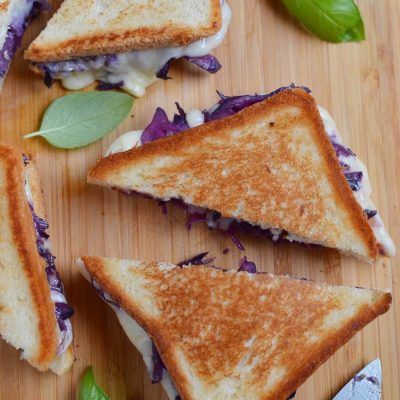 Grilled Cheese and Red Cabbage Sandwiches Recipe-How To Make Grilled Cheese and Red Cabbage Sandwiches-Delicious Grilled Cheese and Red Cabbage Sandwiches
