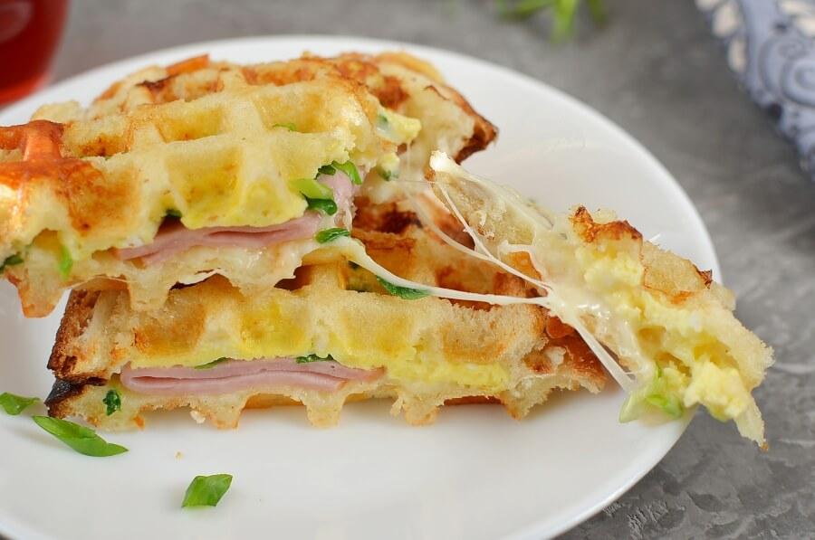 How to serve Ham & Cheese Panini Waffle