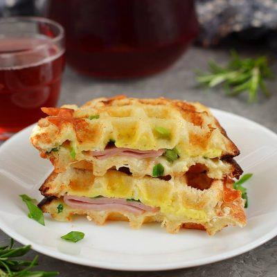 Ham & Cheese Panini Waffle Recipe-How To Make Ham & Cheese Panini Waffle-Delicious Ham & Cheese Panini Waffle