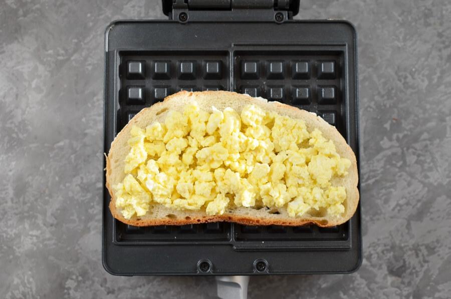 Ham & Cheese Panini Waffle recipe - step 3