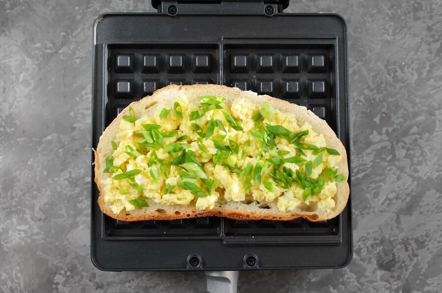 Ham & Cheese Panini Waffle recipe - step 4