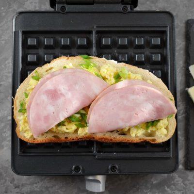 Ham & Cheese Panini Waffle recipe - step 5