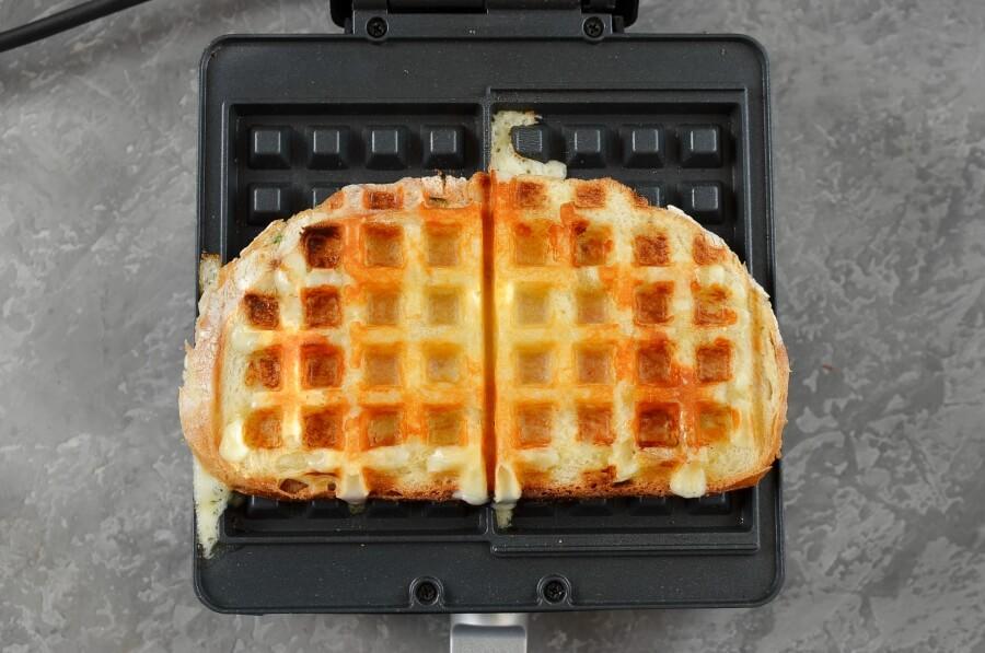 Ham & Cheese Panini Waffle recipe - step 7