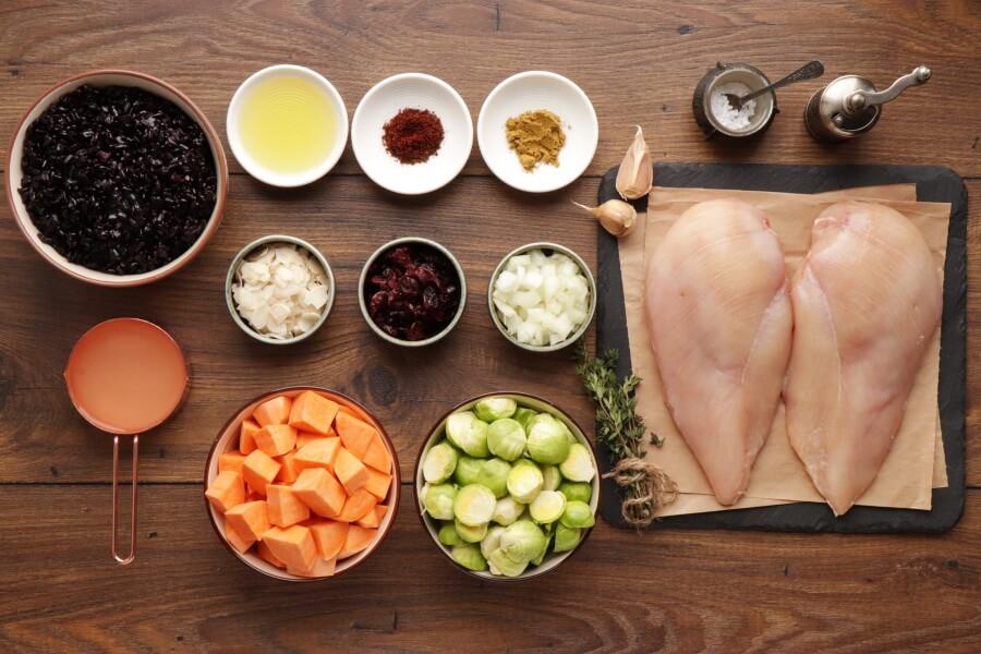 Ingridiens for Harvest Chicken Casserole