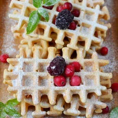 Homemade Belgian Waffles Recipe-How To Make Homemade Belgian Waffles-Delicious Homemade Belgian Waffles