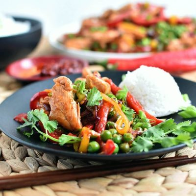 Honey Sriracha Chicken Stir Fry Recipe-Homemade Honey Sriracha Chicken Stir Fry - Delicious Honey Sriracha Chicken Stir Fry
