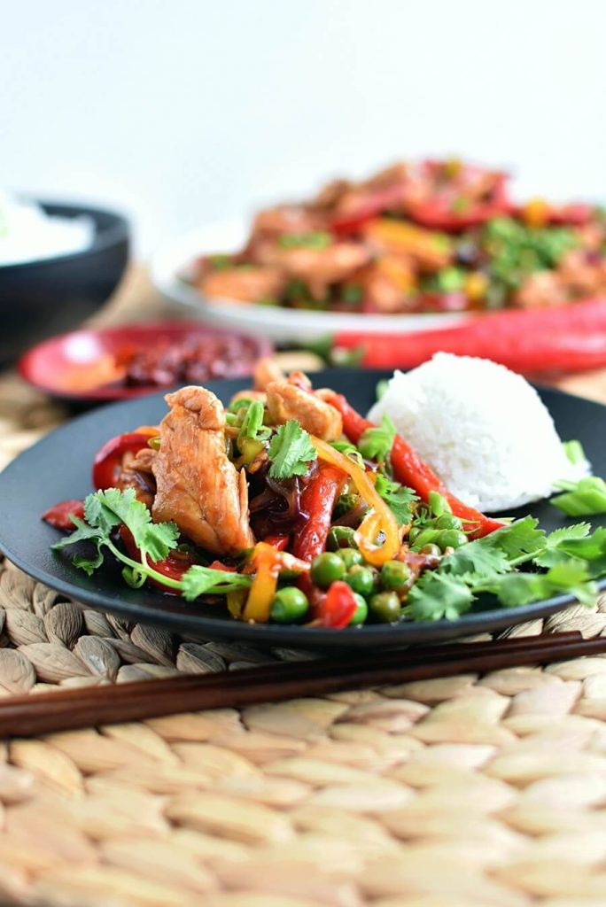 Hot and Sweet Chicken Stir Fry