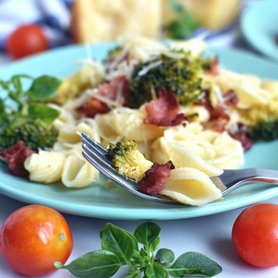 Italian Broccoli-Bacon Pasta Recipe Recipe-Homemade Italian Broccoli-Bacon Pasta Recipe -Easy Italian Broccoli-Bacon Pasta Recipe