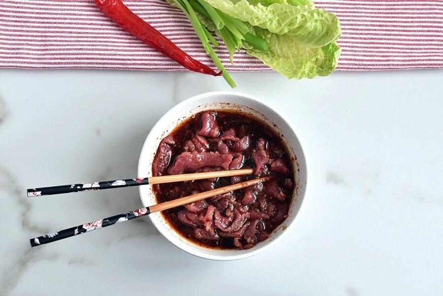 Korean Pineapple Beef Lettuce Wraps recipe - step 3