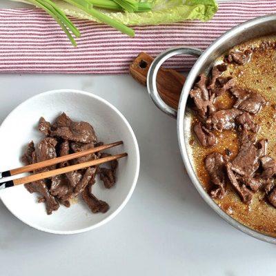 Korean Pineapple Beef Lettuce Wraps recipe - step 4