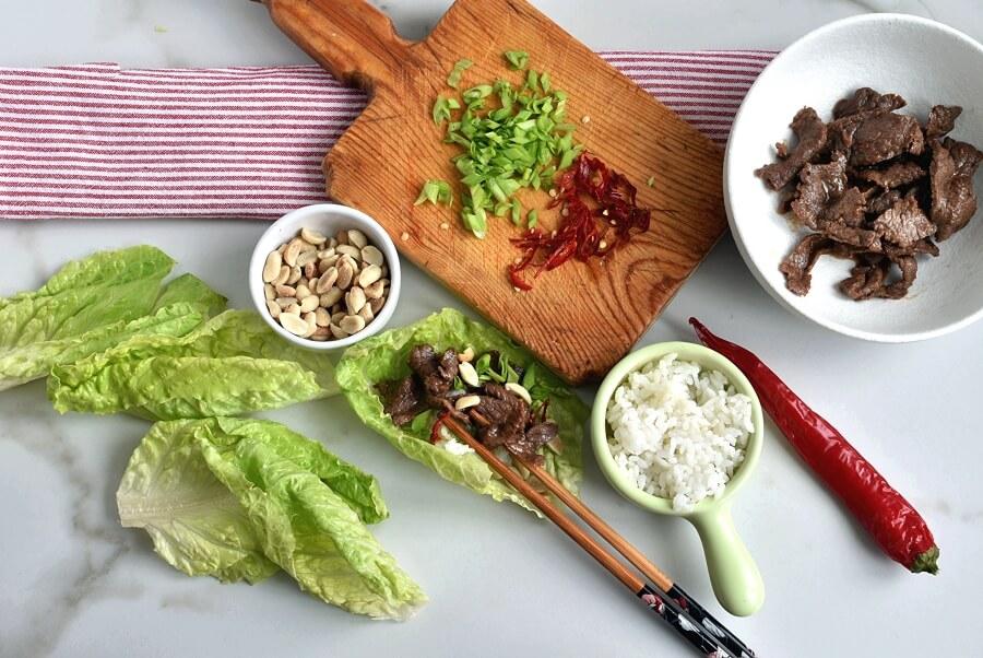 Korean Pineapple Beef Lettuce Wraps recipe - step 5