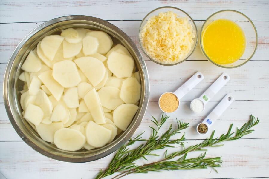 Ingridiens for Parmesan Potato Casserole
