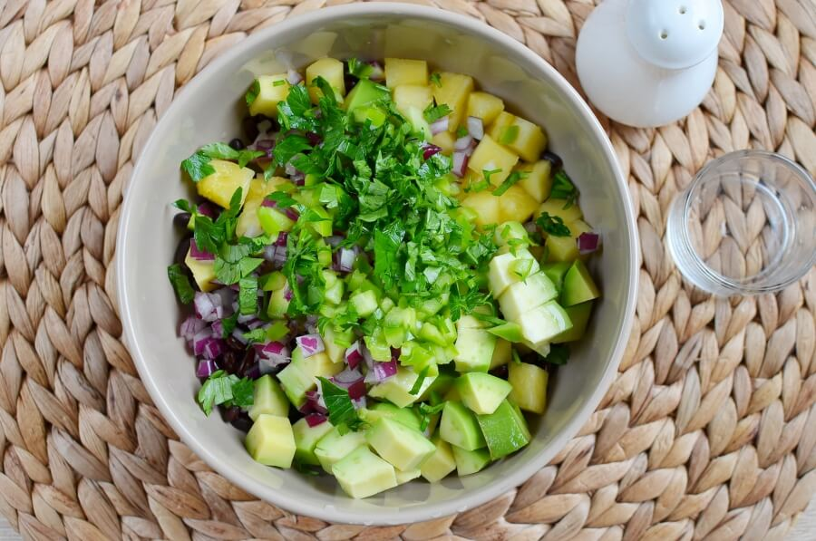 Pineapple, Avocado and Bean Salsa recipe - step 1