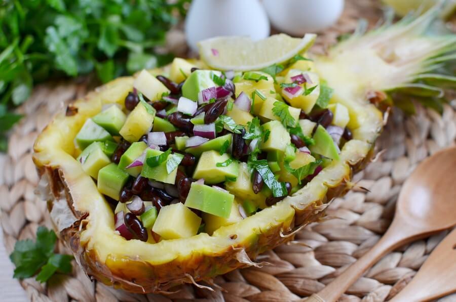 How to serve Pineapple, Avocado and Bean Salsa