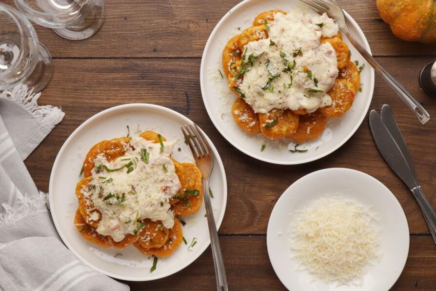 How to serve Pumpkin Potato Gnocchi