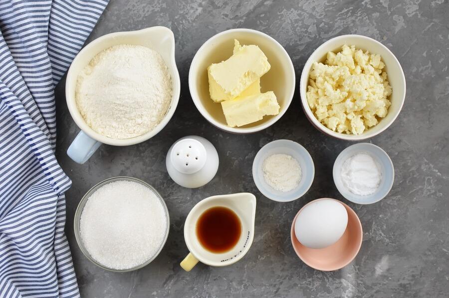 Ingridiens for Queso Fresco Sugar Cookies