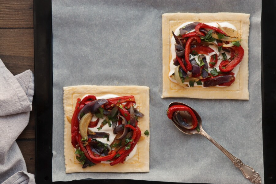 Red Pepper and Baked Egg Galettes recipe - step 11