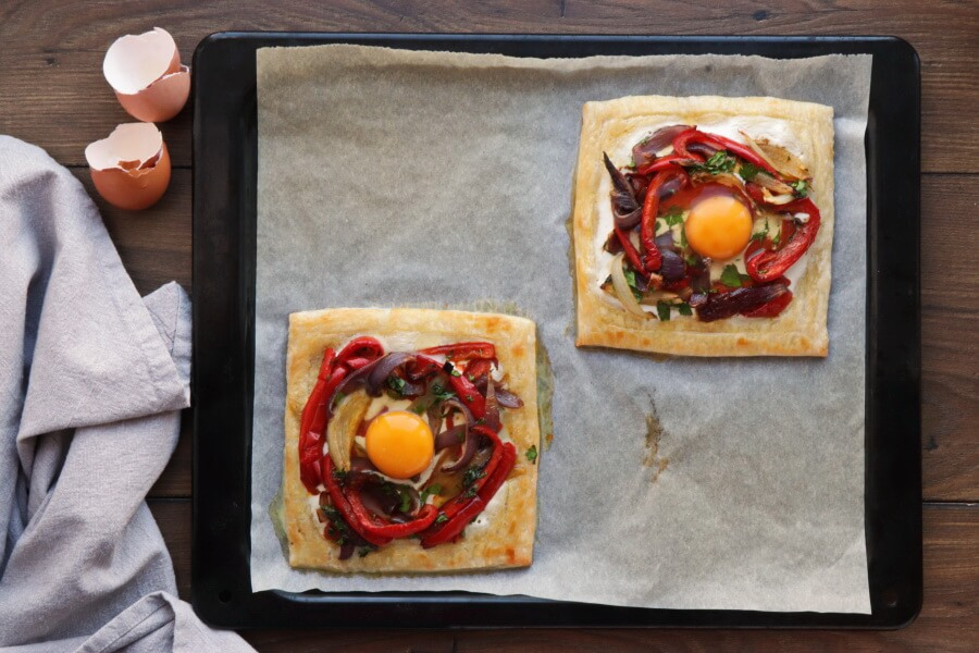 Red Pepper and Baked Egg Galettes recipe - step 13