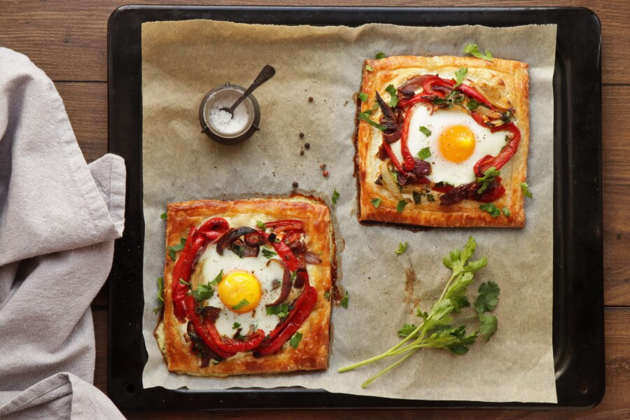 Red Pepper and Baked Egg Galettes recipe - step 15