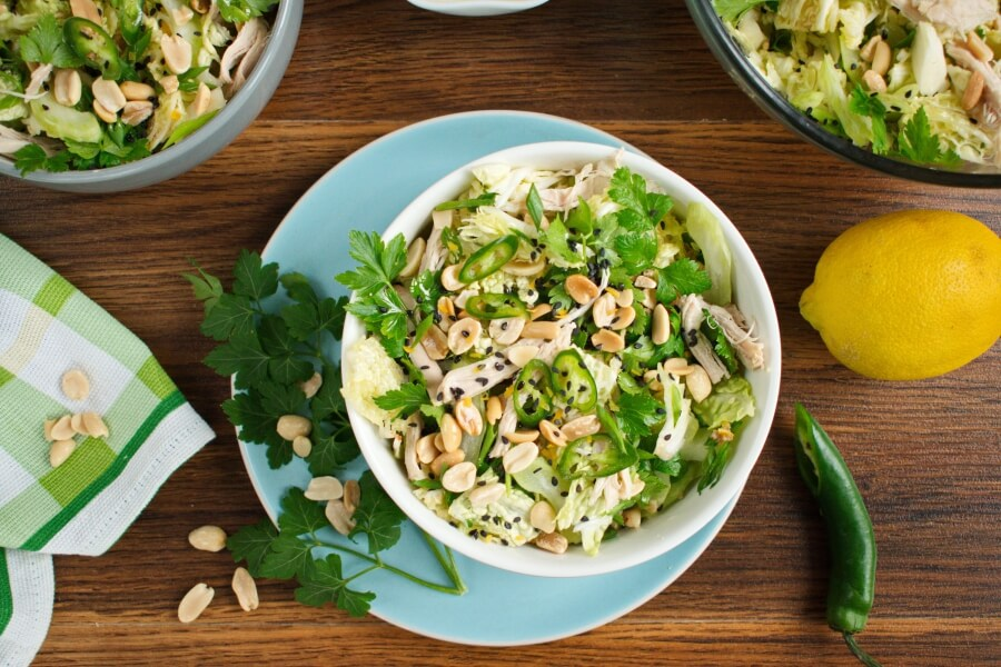 How to serve Spicy Cabbage Salad with Turkey and Peanuts