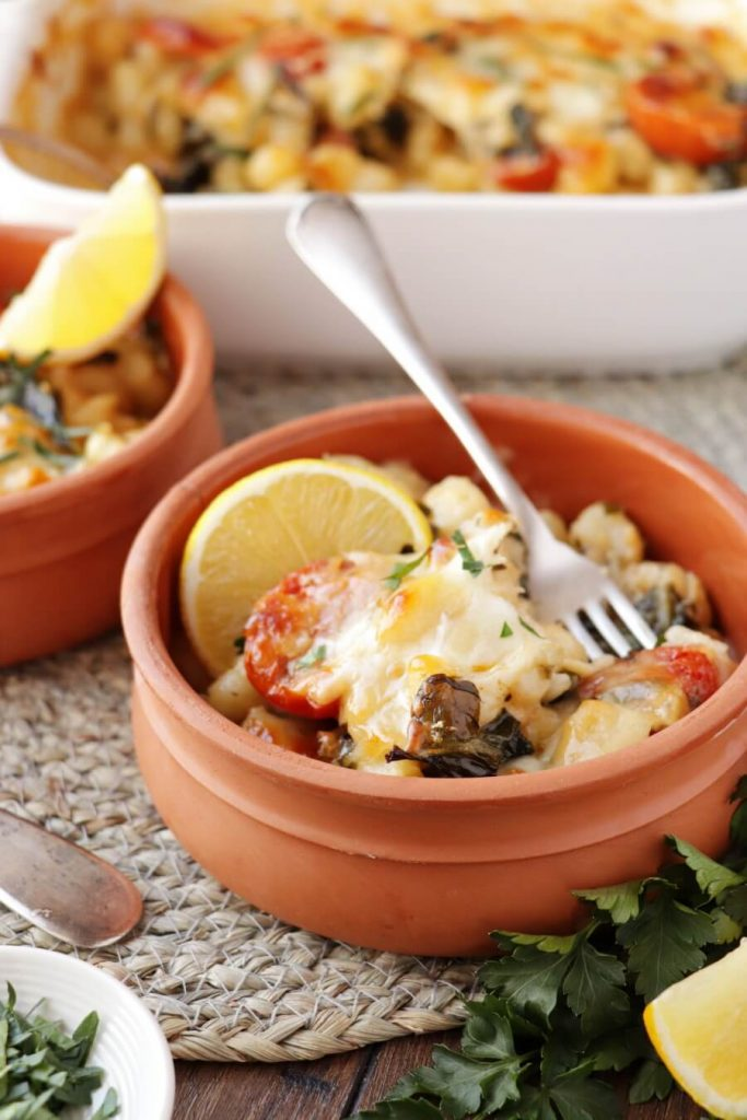 Richly Flavored Gnocchi with Tomatoes and Spinach