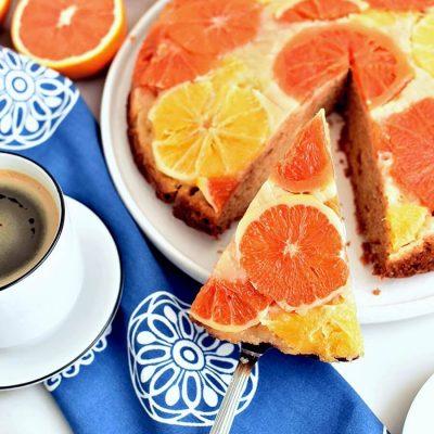 Upside Down Winter Citrus Cake Recipe-Homemade Upside Down Winter Citrus Cake -Delicious Upside Down Winter Citrus Cake