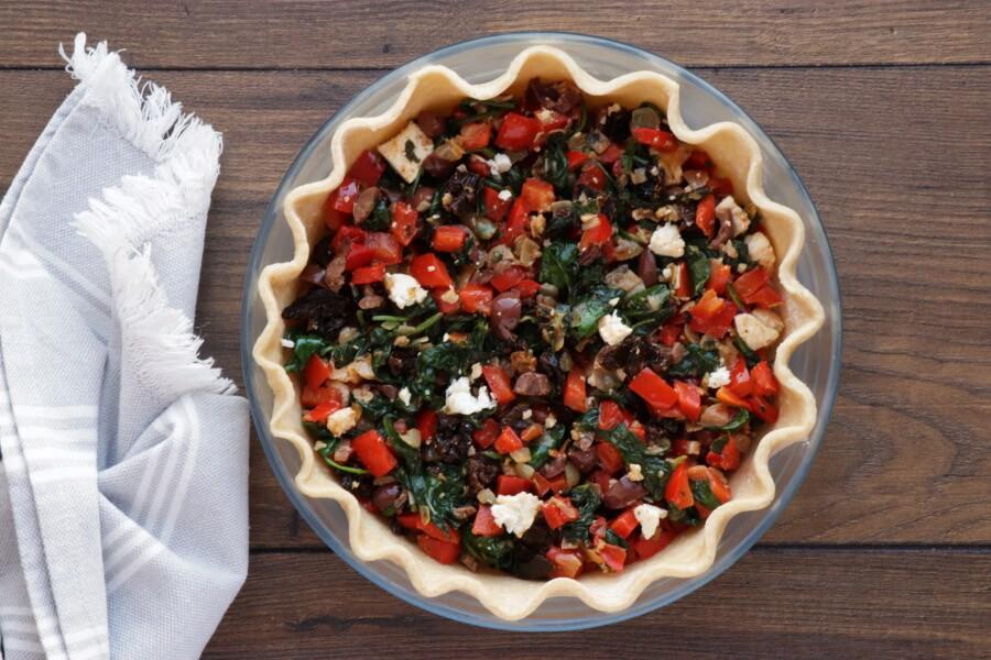 Veggie Mediterranean Quiche recipe - step 8