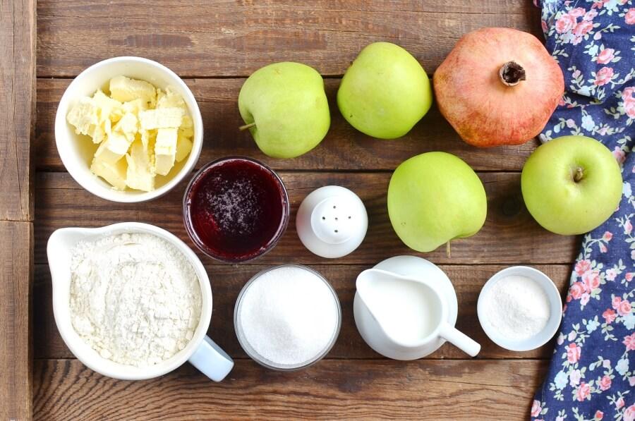 Ingridiens for Apple Pomegranate Cobbler